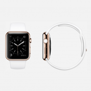 Apple Watch Edition - 38mm 18-Karat Rose Gold Case with White Sport Band