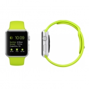 Apple Watch Sport - 38mm Silver Aluminum Case with Green Sport Band