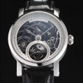Benzinger Manual Winding Movement 3/4-Skeleton Black Rose Engine