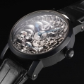 Benzinger Manual Winding Movement Full Skeleton Black and White