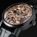 Benzinger Manual Winding Movement Full Skeleton Black-Rose Gold