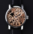 Benzinger Manual Winding Movement Full Skeleton Floral