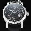 Benzinger Manual Winding Movement Full Skeleton White and Black
