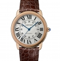 Cartier Ronde Solo de Cartier Extra-Large Model Automatic Pink Gold & Steel