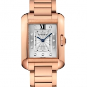 Cartier Tank Ladies Anglaise Automatic Extra-Large Model Pink Gold