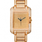 Cartier Tank Ladies Anglaise Watch Large Model Pink Gold