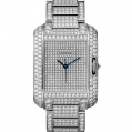 Cartier Tank Ladies Anglaise Watch Large Model White Gold