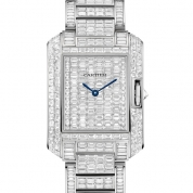 Cartier Tank Ladies Large Model Watch Automatic White Gold