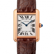 Cartier Tank Solo Ladies Quartz Small Model Pink Gold & Steel