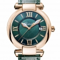 Chopard Imperiale 36 MM Watch 18-Carat Rose Gold & Green Tourmalines