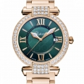 Chopard Imperiale 36 MM Watch 18-Carat Rose Gold, Green Tourmalines & Diamonds