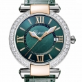 Chopard Imperiale 36 MM Watch 18-Carat Rose Gold, Stainless Steel & Green Tourmalines