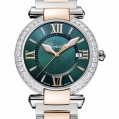Chopard Imperiale 36 MM Watch 18-Carat Rose Gold, Stainless Steel, Green Tourmalines & Diamonds