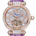 Chopard Imperiale Tourbillon 42 MM Watch 18-Carat Rose Gold, Amethysts & Diamonds