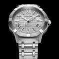 Concord Saratoga Me atin-finished and polished stainless steel woven-link braAutomatic