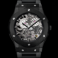 Hublot Classic Fusion Classico Ultra-thin Skeleton All Black Bracelet 45MM