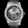 Hublot Classic Fusion Classico Ultra-thin Skeleton Titanium Diamonds 45MM