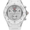 Michele Tahitian Jelly Bean Large White Stainless Steel Dial