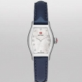 Michele Urban Coquette Diamond Dial Navy Patent Leather