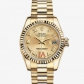 Rolex Lady-Datejust Oyster, 26 MM, Yellow gold