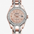 Rolex Lady-Datejust Pearlmaster Oyster, 29 MM, Everose gold and diamonds
