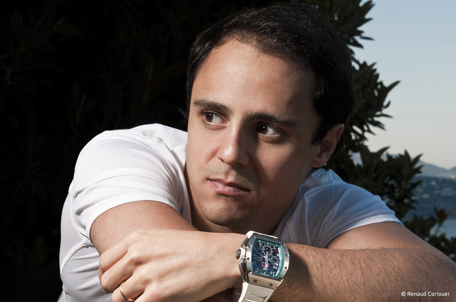 Felipe Massa wearing Richard Mille RM011