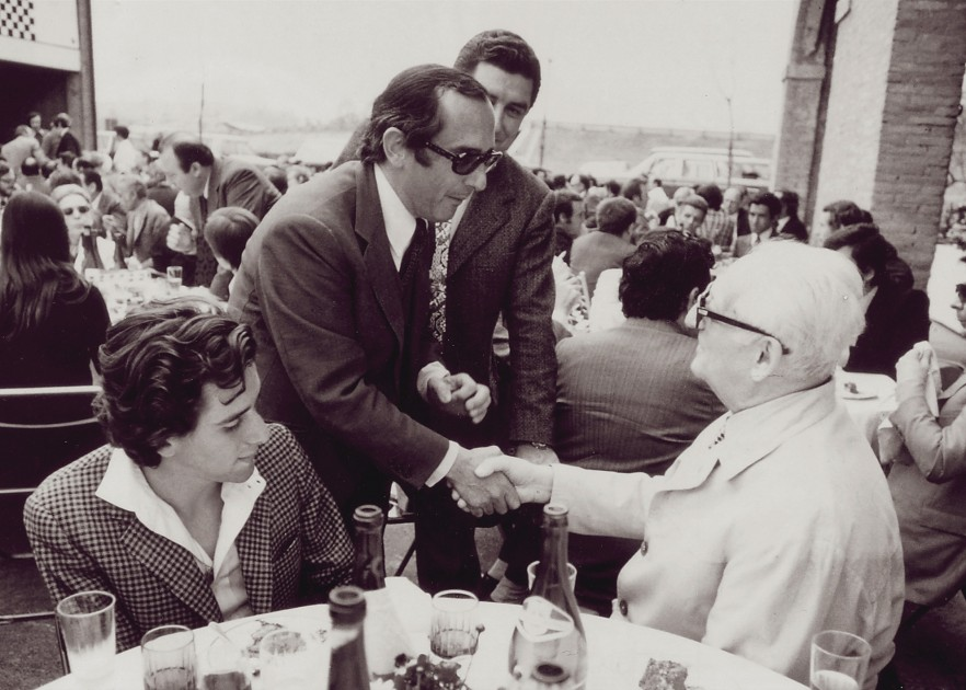Jack Heuer and Enzo Ferrari