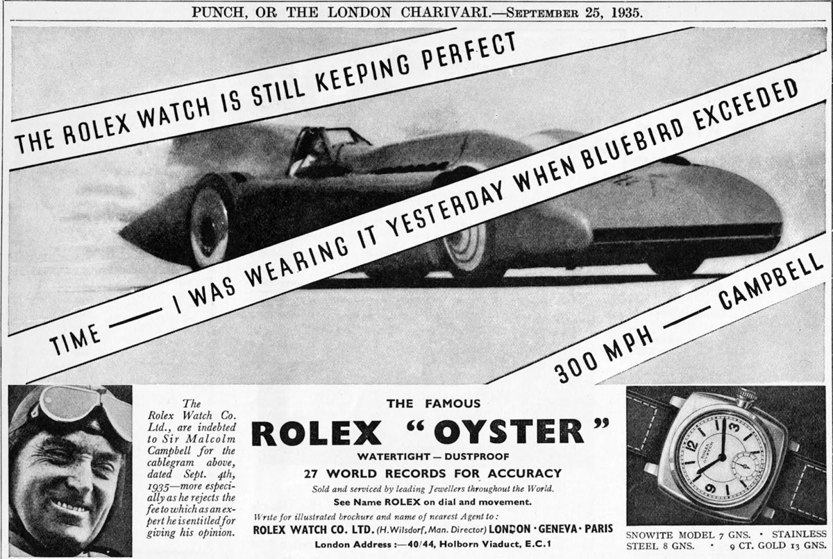 Malcolm Campbell 1935 Records ( Rolex Motorsport )