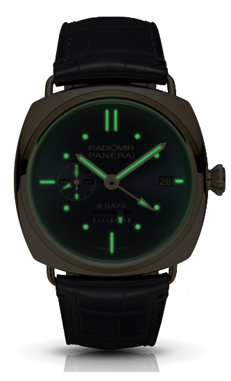 Panerai Radiomir 8 Days GMT - Night View