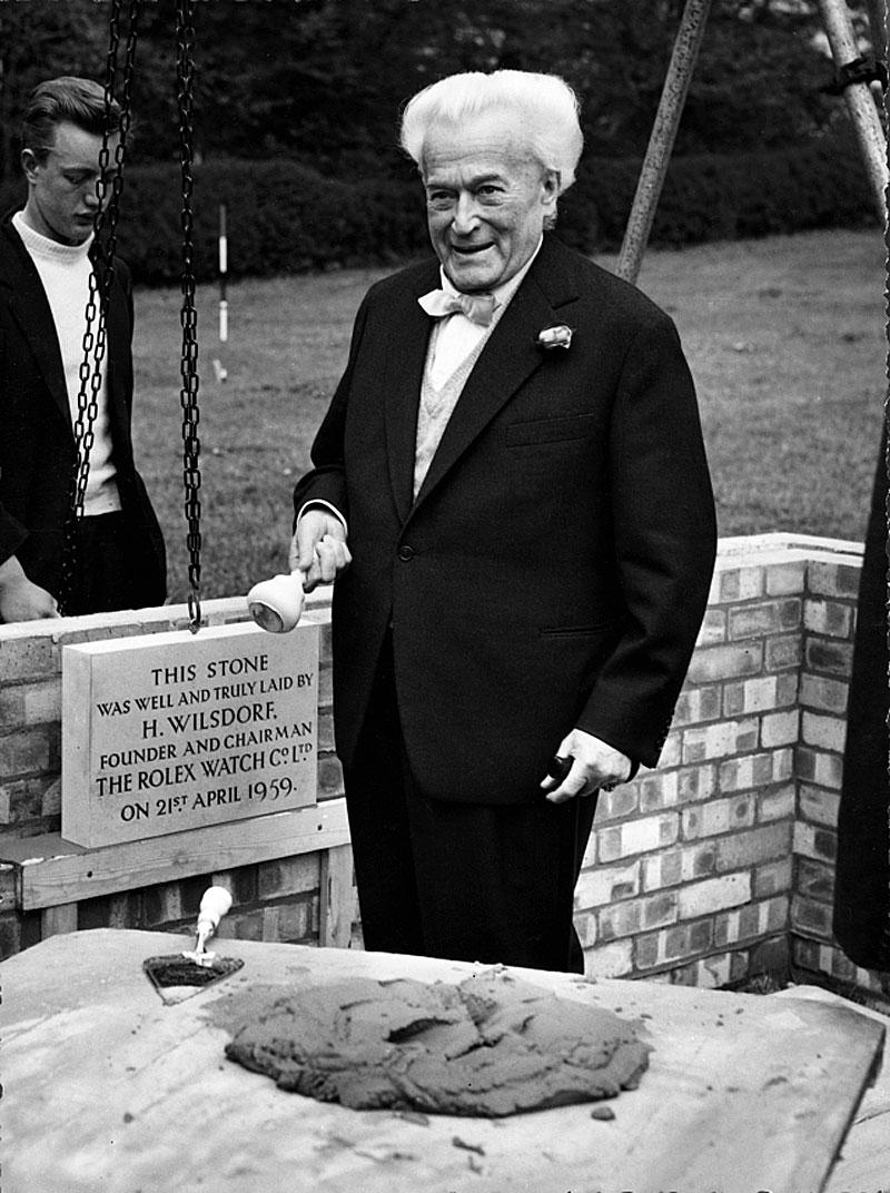 Rolex Brand History - Hans Wilsdorf in 1959