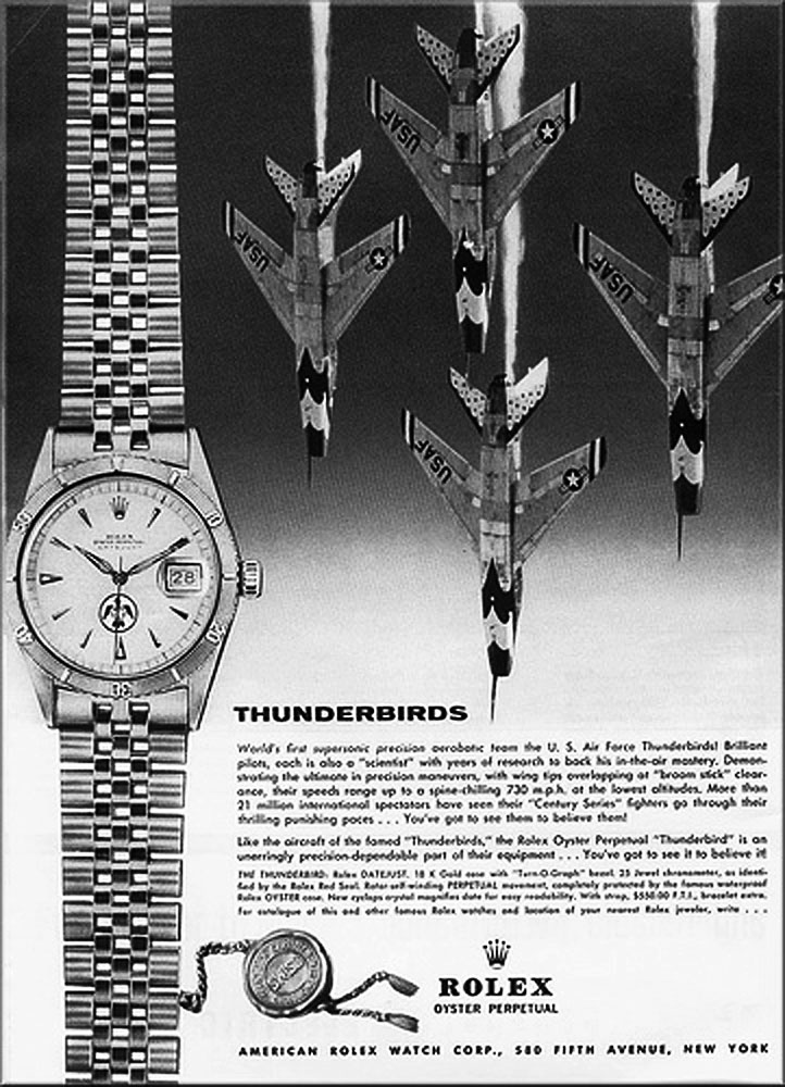 Rolex Turn-O-Graph Thunderbird - Ads 1959