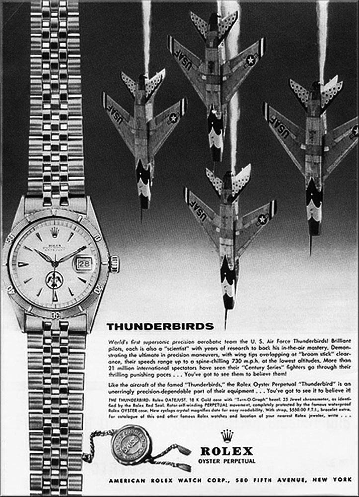 Rolex Turn-O-Graph Thunderbird - Ads 1959