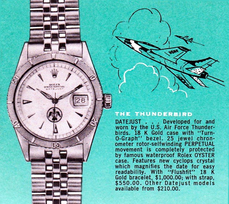 Rolex Turn-O-Graph Thunderbird  - Ads 1960