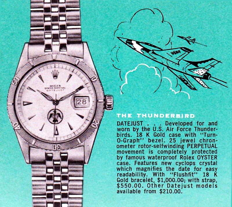 Rolex Turn-O-Graph Thunderbird  - Ads 1960