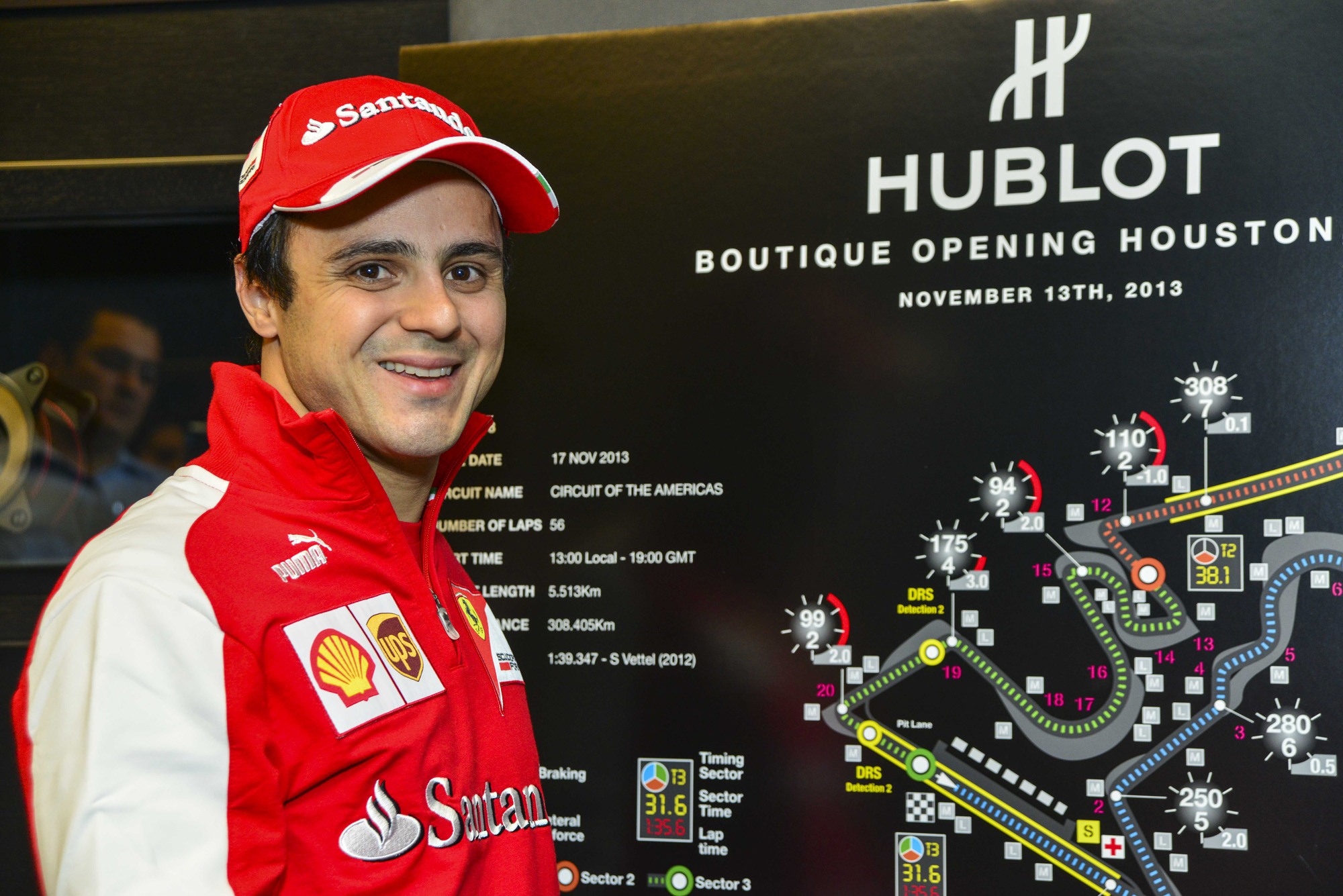 Hublot Houston Galleria Grand Opening with Formula 1 Driver Felipe Massa