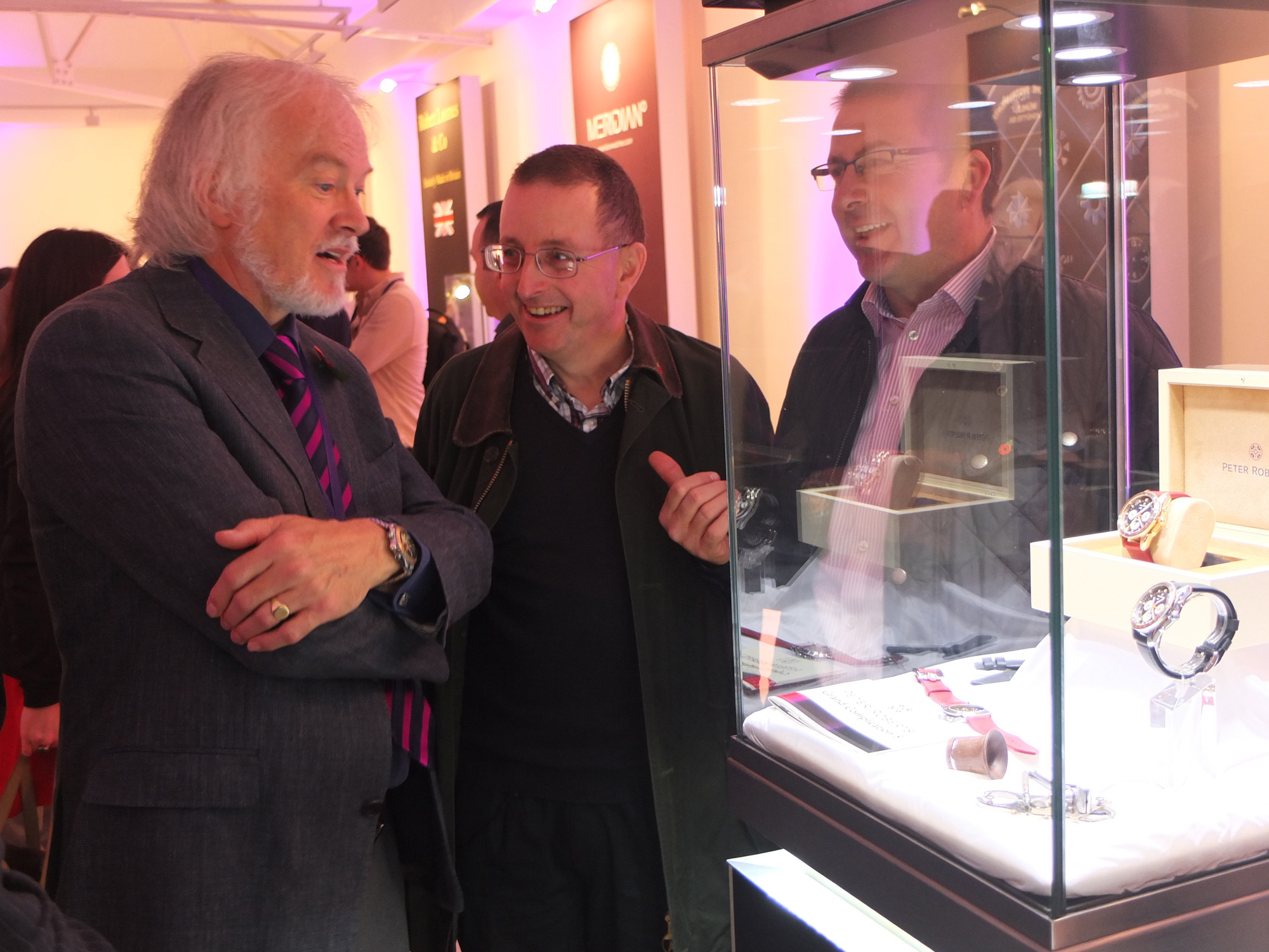 Peter Roberts (l) explaining the Concentrique