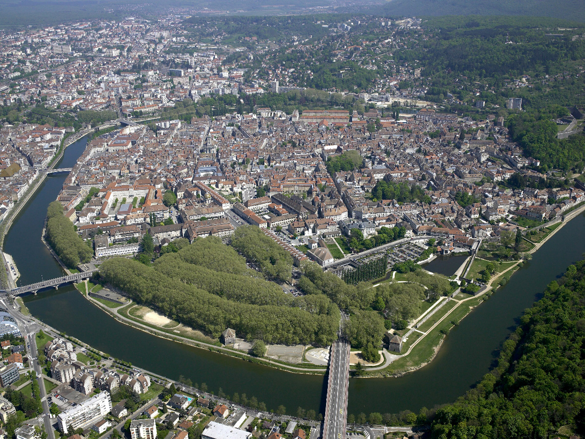 Aerial View of the City of Besançon‎
