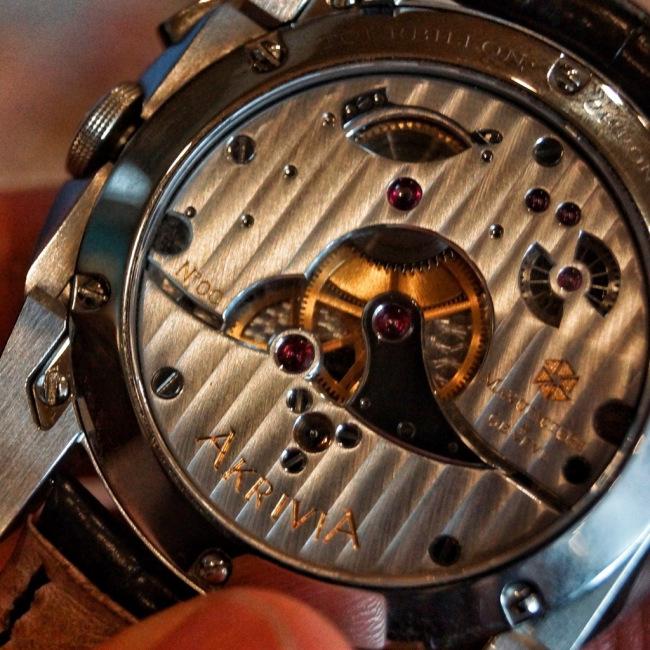 AkriviA Tourbillon Monopusher Chronograph - Caseback
