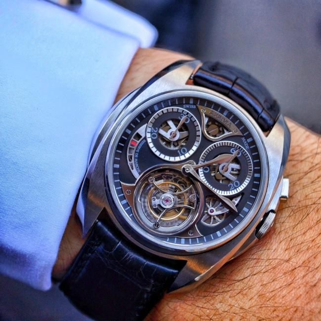 AkriviA Tourbillon Monopusher Chronograph - Wristshot