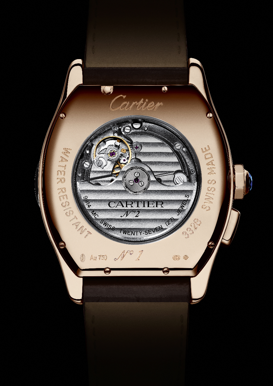 Cartier Tortue Worldtime - Red Gold (Caseback)