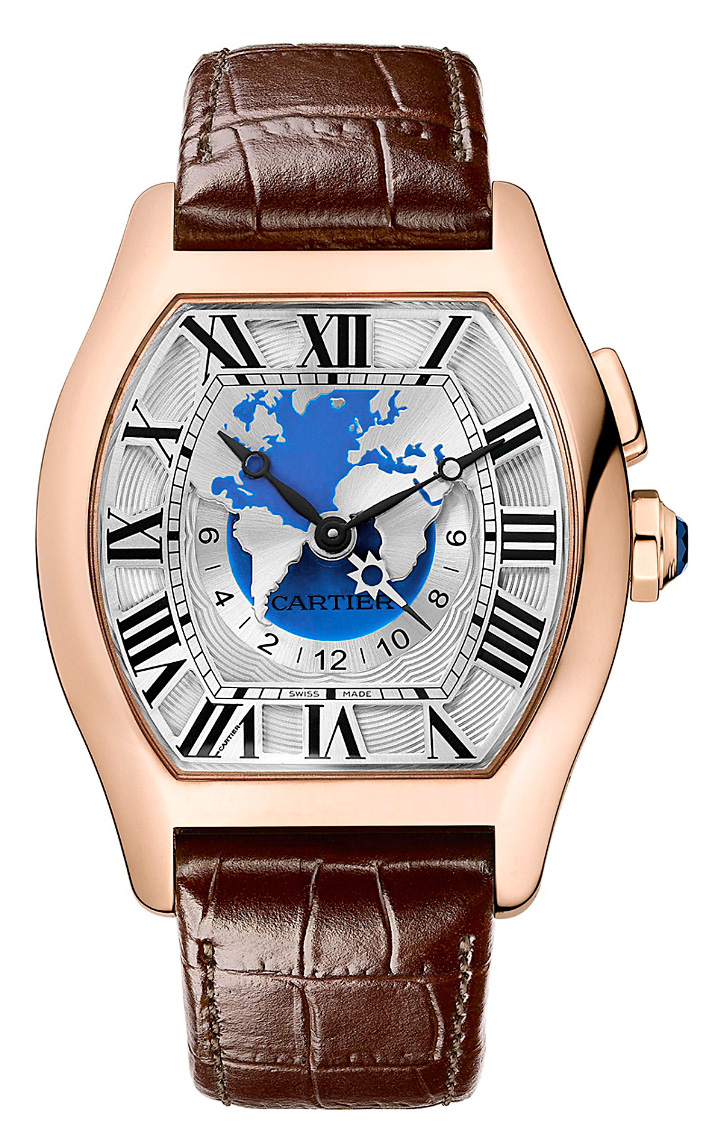Cartier Tortue Worldtime - Red Gold (Dial)