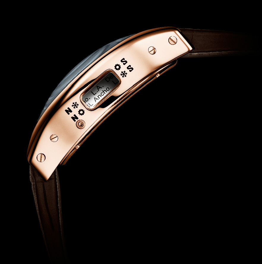 Cartier Tortue Worldtime - Red Gold (sideview)