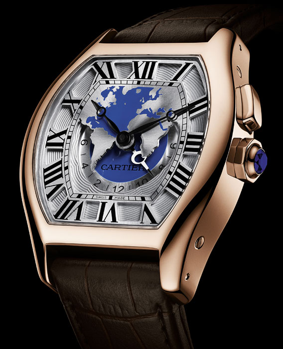 Cartier Tortue Worldtime - Red Gold