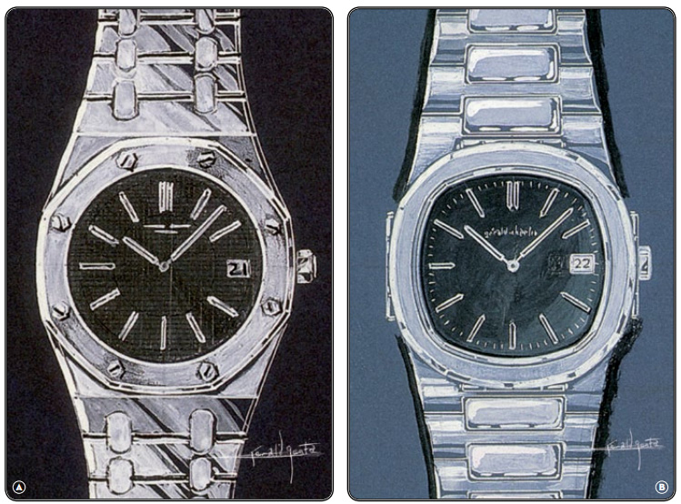Gerald Genta Sketches (Royal Oak & Nautilus)