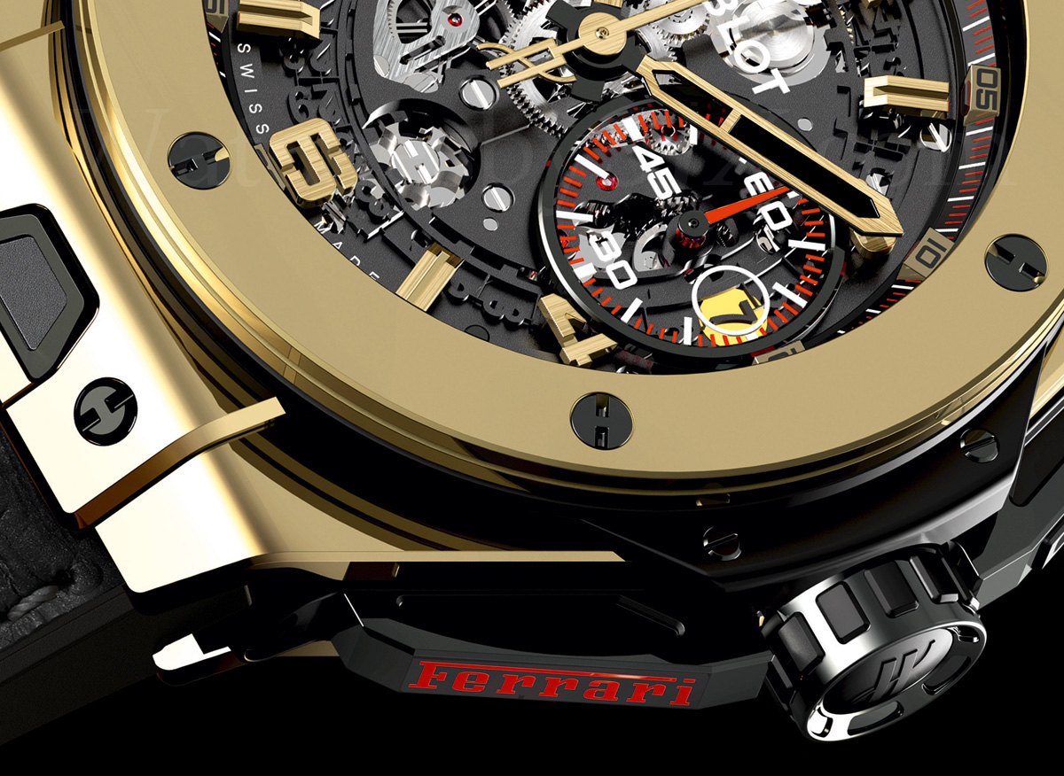 Hublot Big Bang Ferrari Magic Gold