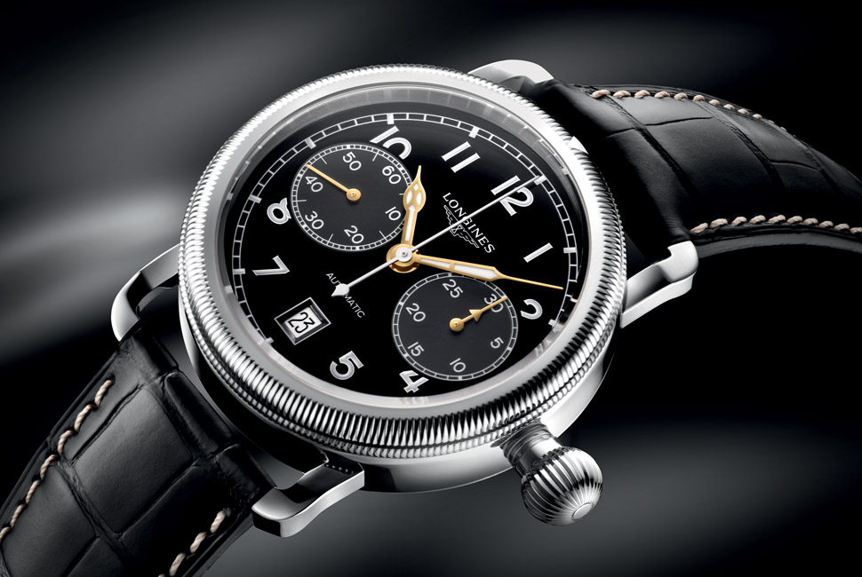 Longines Avigation Oversize Crown - Chronograph