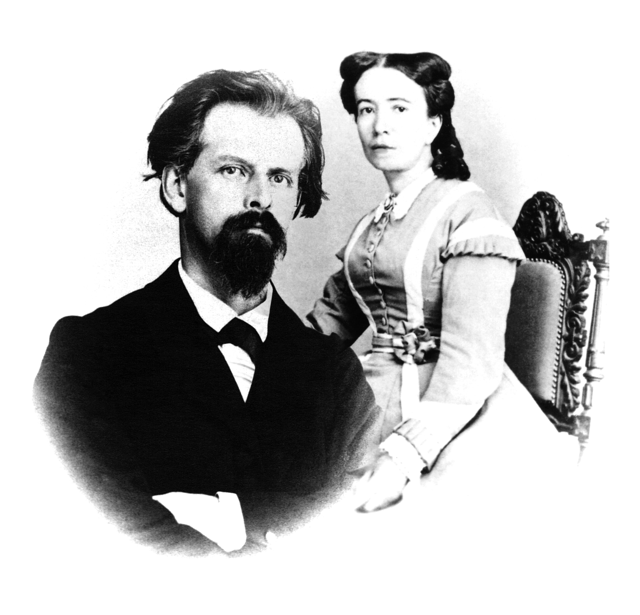 Portrait of Constant Girard (1825-1903) and Marie Perregaux (1831-1912).