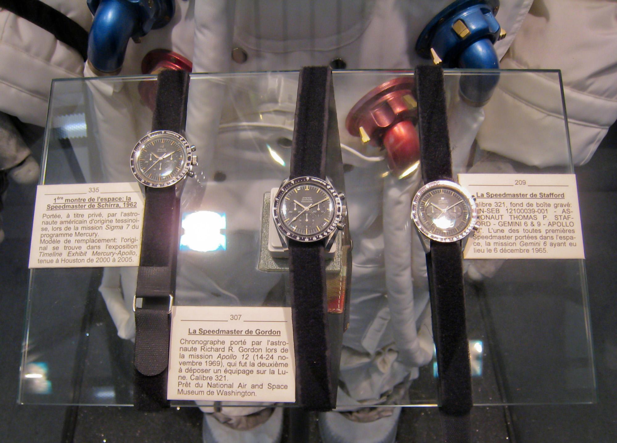 Omega Speedmasters of Schirra, Gordon and Stafford