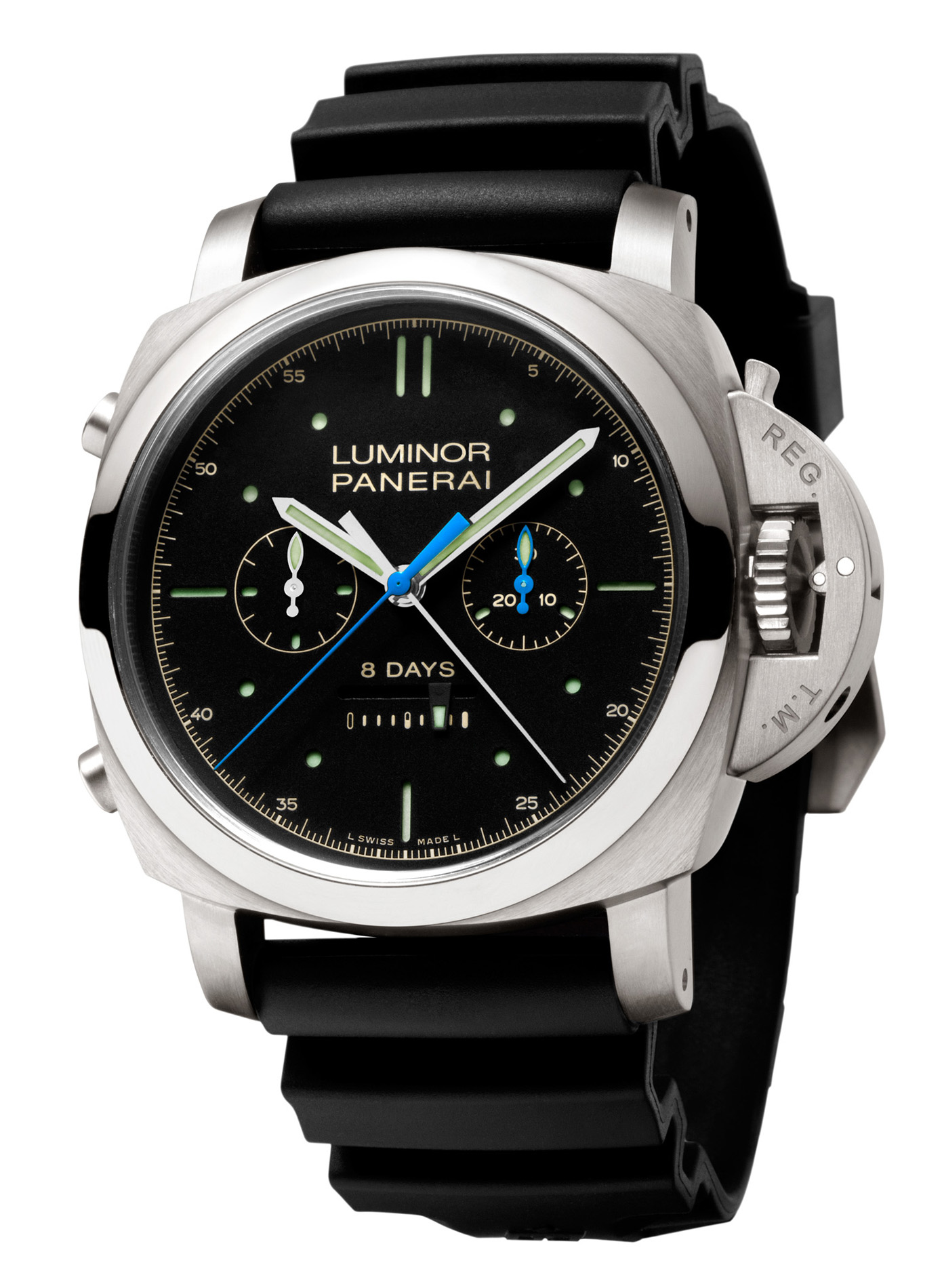 Panerai Luminor 1950 Rattrapante 8 Days Titanio