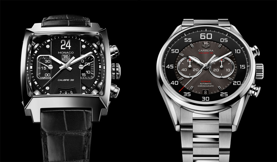 TAG Heuer Monaco and Carrera - Calibre 36